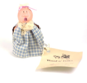 Collectibles | Wood Folk Art Figures Peaches