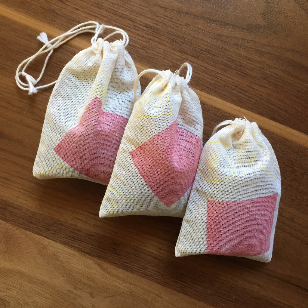 100% Cotton Muslin Sachet Bags (Set of 6)