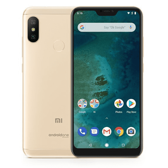 Xiaomi Mi A2 Lite (English Box, 32GB/3GB, Gold)
