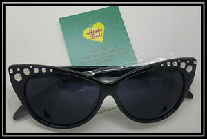 Black frame top bling sunglasses