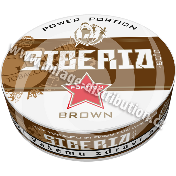 Siberia - 80 °C Brown Chewing Bags 20g (SIB)