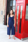 Navy Midi Jumpsuit