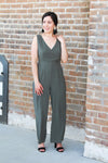 Olive Side Button Jumpsuit