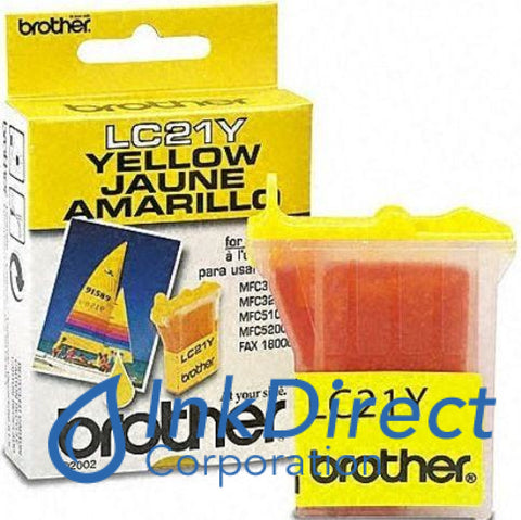 ( Expired ) Genuine Brother Lc21Y Lc-21Y Ink Jet Cartridge Yellow