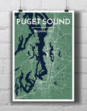 Puget Sound City Map