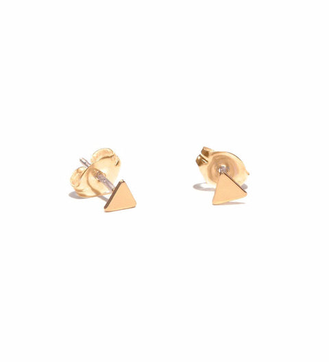 Tiny Triangle Studs / Gold