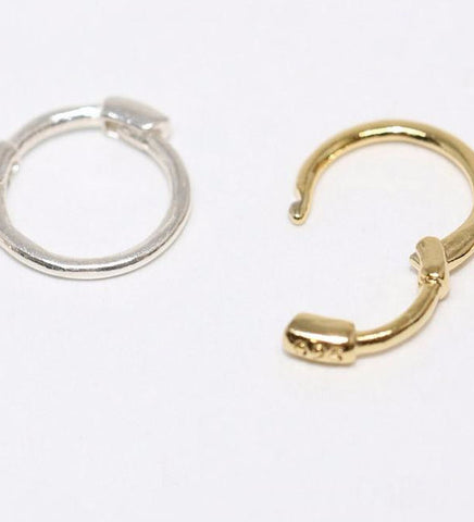 Tiny Cartilage Hoop Earring Thin / Silver
