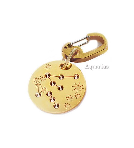 Aquarius Star-sign PugPendants for luxury dogs from Canine Chic of London