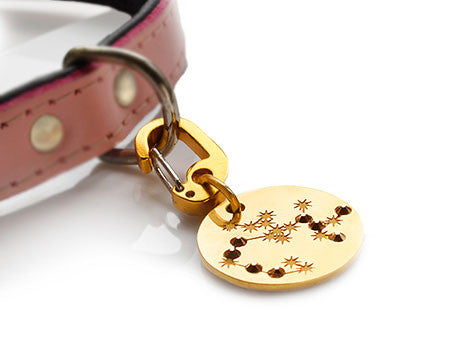 Star-sign PugPendant for luxury dogs from Canine Chic of London