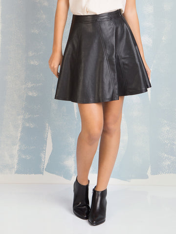 Skirt Faux Leather Black Deby Debo DEBY DEBO- Here Now