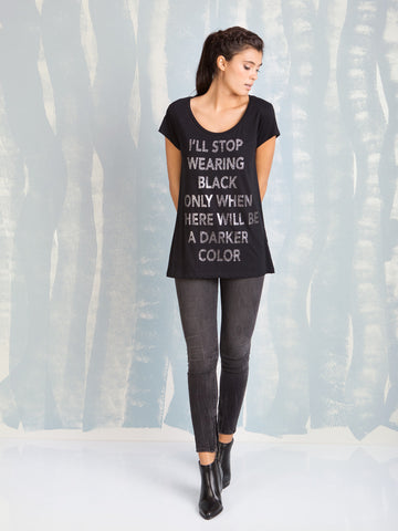 T Shirt Black Women With Glitter Fracomina Fracomina- Here Now