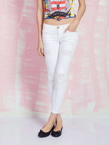 Current/Elliott Jeans for Women The Stiletto White Denim Iconic Pieces CURRENT/ELLIOT- Here Now