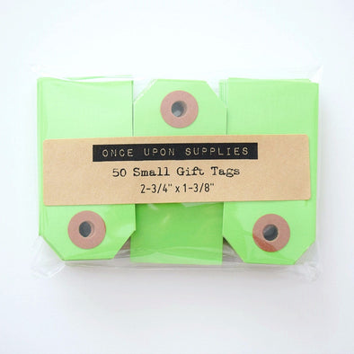 Green Small Shipping Tags / Gift Tags - Once Upon Supplies - 1