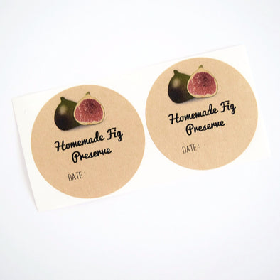 Fig Preserve Labels - Mason Jar Labels