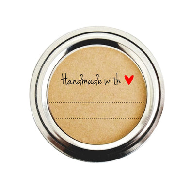 Handmade with Love Labels with Red Heart | Once Upon Supplies