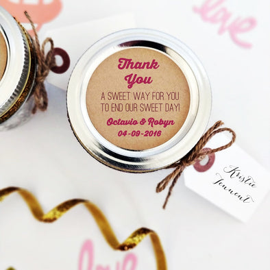 Wedding Candy and Sweets Favor Labels and Seals | Once Upon Supplies