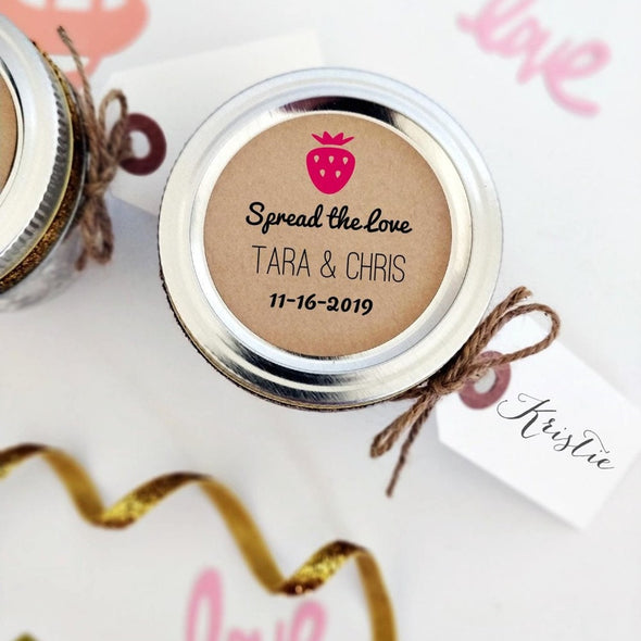 Custom Strawberry Jam Favor Stickers | Once Upon Supplies
