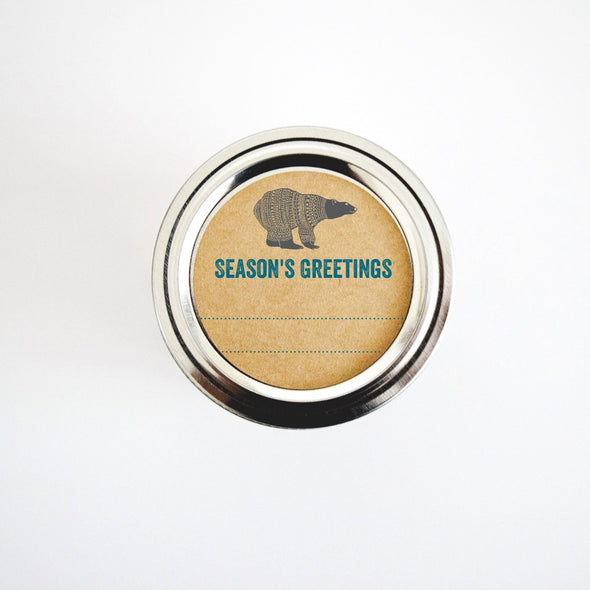 Blue and Silver Polar Bear Labels