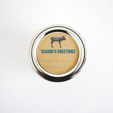 Blue and Silver Deer Labels