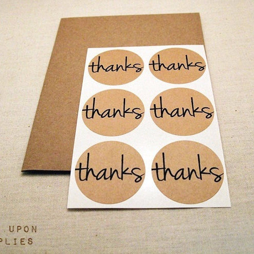 Thank You Stickers | Once Upon Supplies
