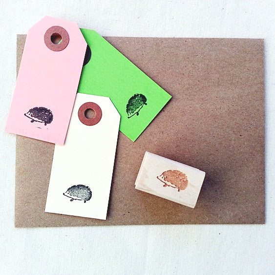 Hedgehog Rubber Stamp. Woodland Animals Stamp - Once Upon Supplies