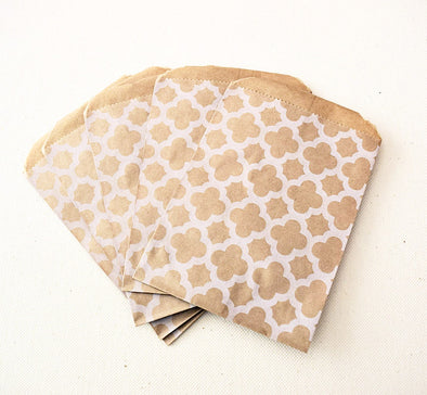 Craft Brown Moroccan Pattern Favor Bags - Once Upon Supplies - 1