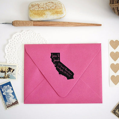 California State Shape Return Address Stamp