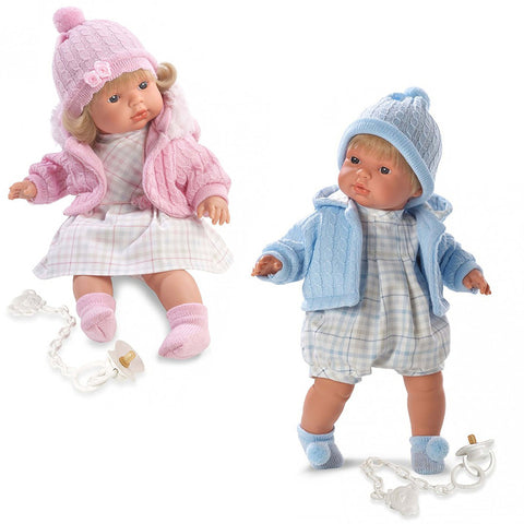 Twin Babies Boy Amp Girl 16 Crying Baby Dolls With