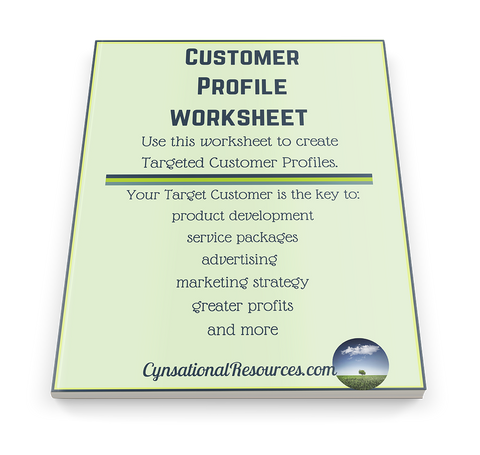 Customer Profile Worksheet | Define Your Ideal Target Customer - Cynsational Resources
