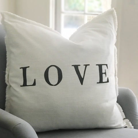 """LOVE"" Large Pillow"