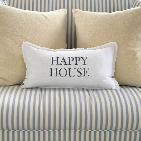 """Happy house"" Lumbar pillow"