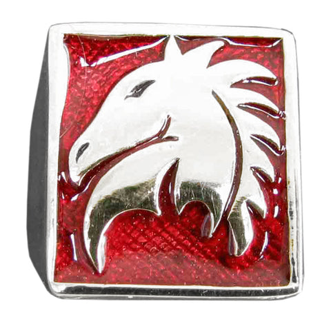 Chess Game Knight Ring Horse Symbol in Sterling Silver 925