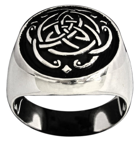 Celtic Infinity Knot Ring Thor Viking Symbol in Sterling Silver 925