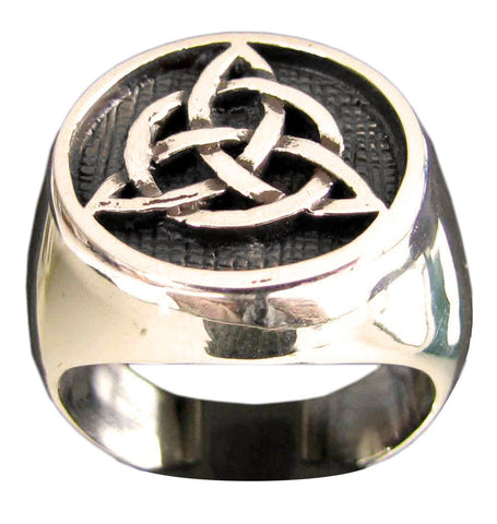 Bronze Celtic Triskele Knot Ring Mystical Druid Symbol