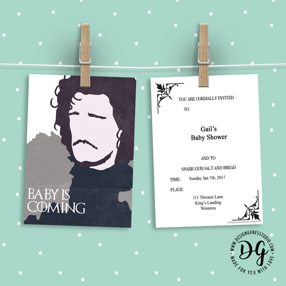 Game of Thrones Baby Shower Invitation and Ideas