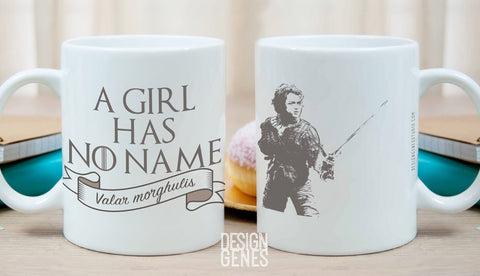 Arya Stark mug, A girl has no name, Game of Thrones mug, Valar morghulis, ASOIAF quote mug, GOT fans gift, game of thrones gift, Arya mug