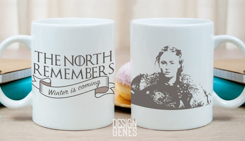 Sansa Stark mug, the north remembers, winter is coming, game of thrones mug, queen of the north, Game of Thrones gift, GOT fans gift