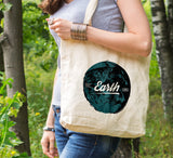 Earth friendly tote, reusable shopping tote, save the earth, eco tote bag, tree hugger gift, reusable shopping canvas tote bag, reduce reuse