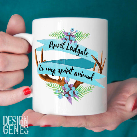 April Ludgate is my spirit animal mug blue, Parks and Rec quote mug, parks and rec fan gift, birthday gift, valentines day gift, 11oz coffee mug