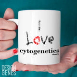 I love cytogenetics chromosomes mug, medical lab tech gift