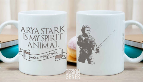 Arya Stark mug, Game of Thrones mug, Arya Stark is my spirit animal, Valar morghulis, ASOIAF quote mug, GOT fans gift, game of thrones gift