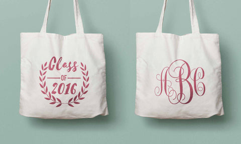 Class of 2016 tote, graduation gift, monogram tote, college grad gift, high school graduation, gift for her, personalized graduation gift