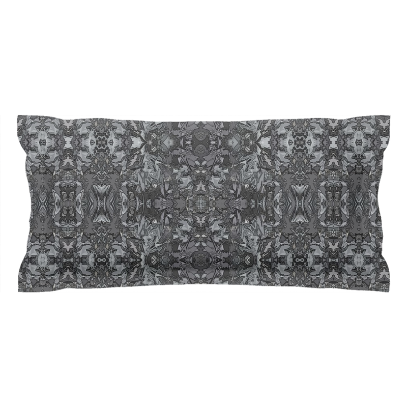 Pillow Sham is Neutral Grey in a Geometric Contemporary Modern Design for Your Bedroom