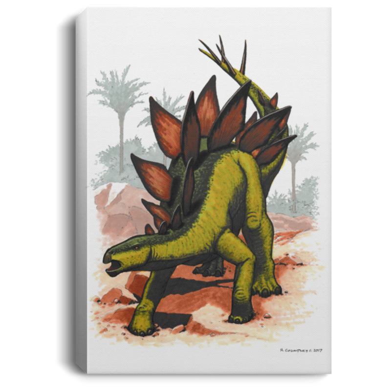 Dinosaur Wall Art Decor for Kids Bedroom, Playroom or Nursery - Stegosaurus