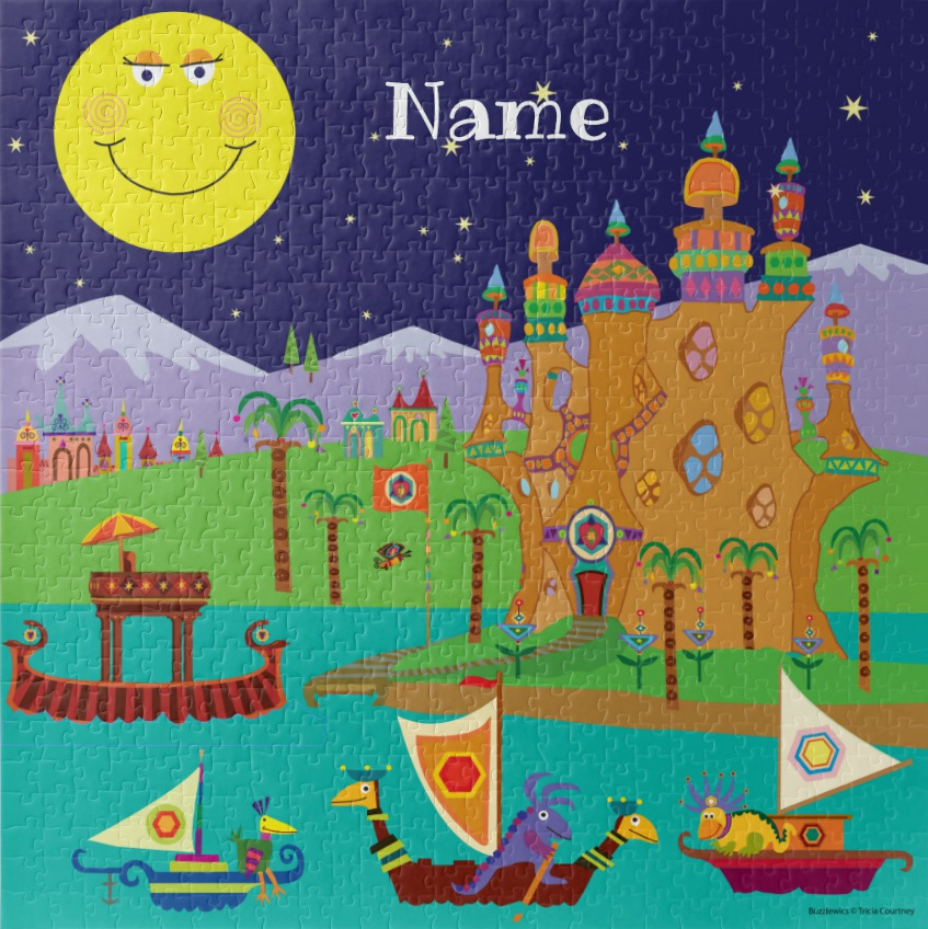 Name Puzzle Custom Jigsaw with Fantasy Animals for Kids - Personalized
