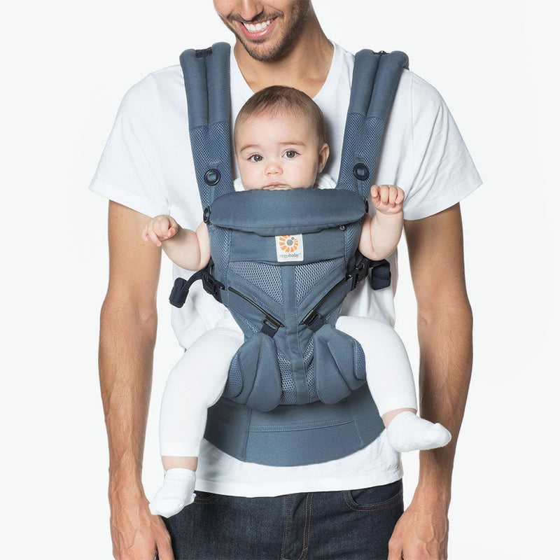 Baby Carrier Lightweight Adjustable Newborn to Toddler Cool Air Mesh Omni 360 - Oxford Blue