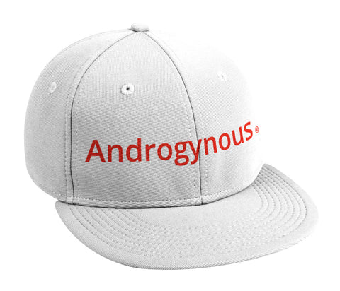 ANDROGYNOUS RED ON WHITE PRINTED -6 PANEL - COTTON CAP