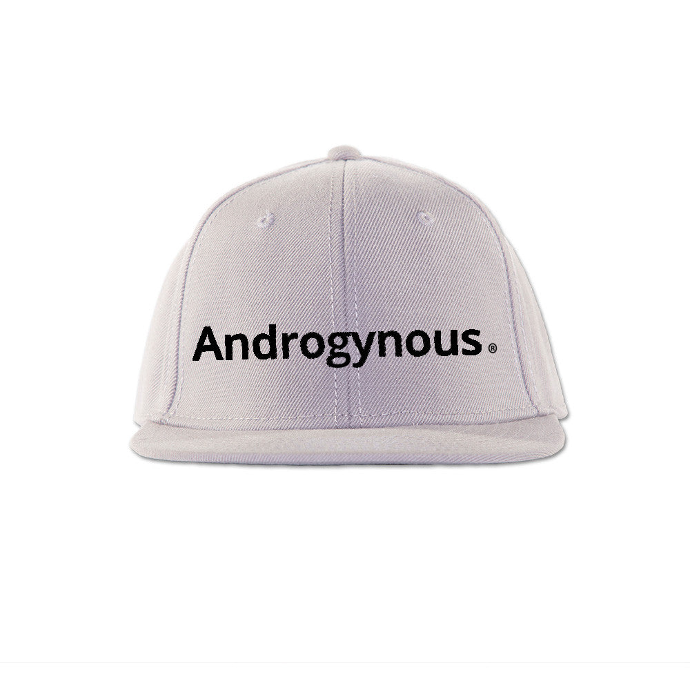 ANDROGYNOUS BLACK ON WHITE PRINTED - SNAPBACK CAP