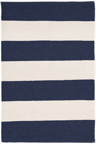 Falls Village Stripe Navy Indoor/Outdoor Rug.
