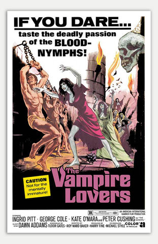 "Vampire Lovers - 11"" x 17""  Movie Poster"